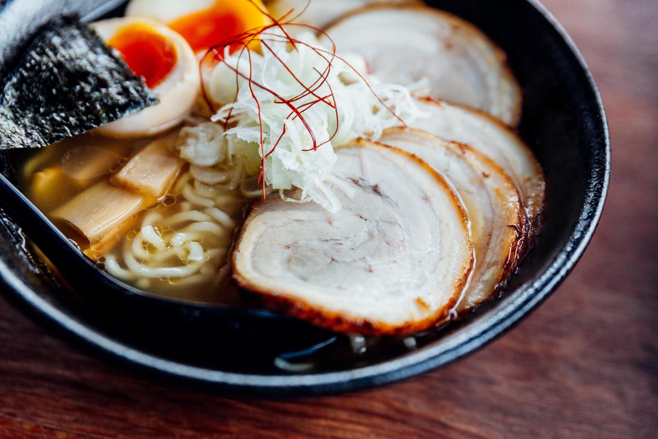 Close up of Japanese Ramen